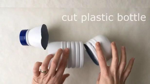 cut the plastic bottle