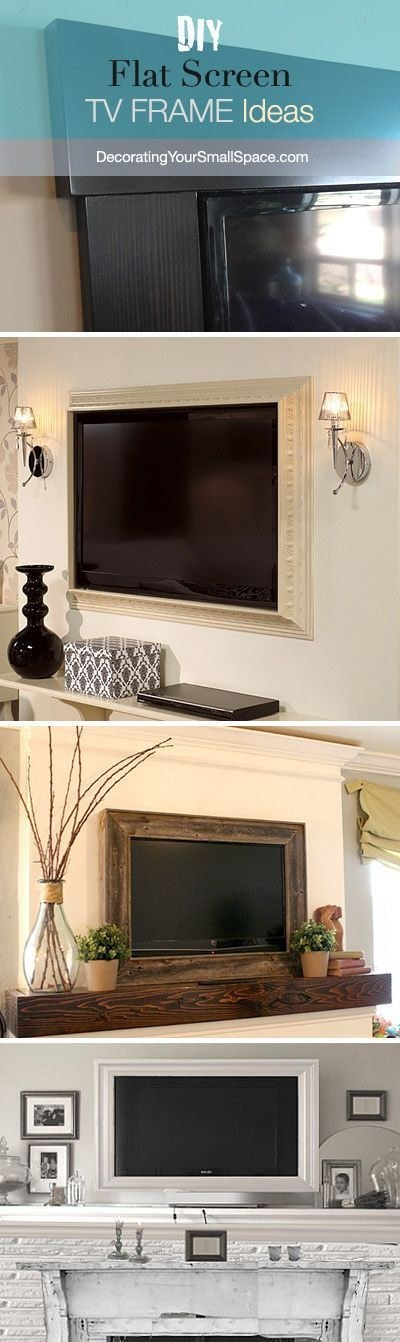 frame your tv with moulding trim