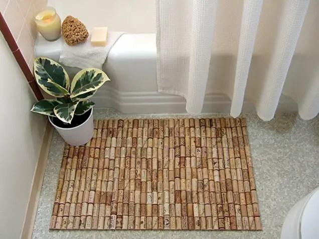 make a cork bath mat