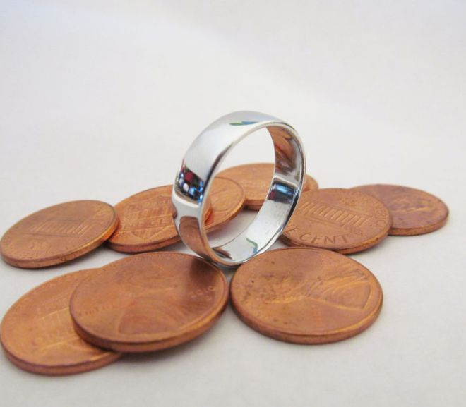 make a ring by melting pennies