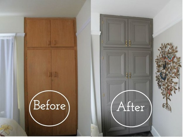 make old cabinets look new with moulding
