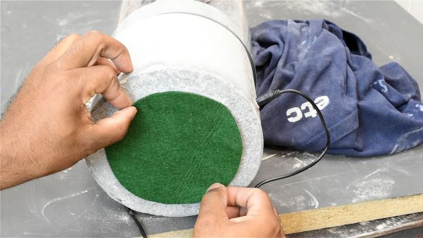 add felt to the bottom to stop it from scratch your furniture