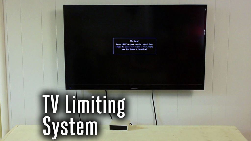arduino based system for automatically limiting tv time