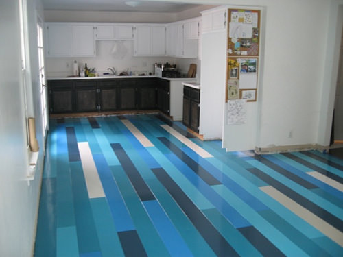 different colour plank flooring