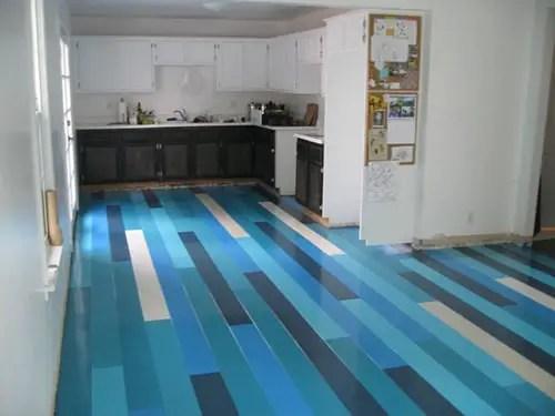 different colour plank flooring