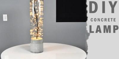 diy indoor and outdoor concrete lamp