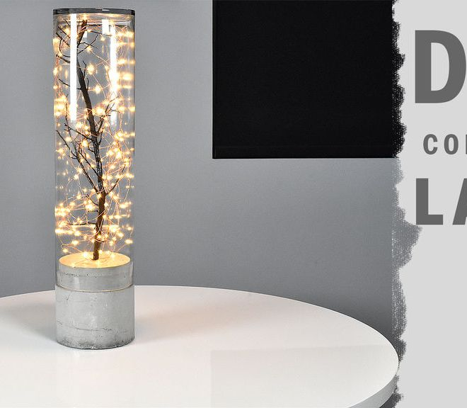 diy indoor and outdoor concrete lamp
