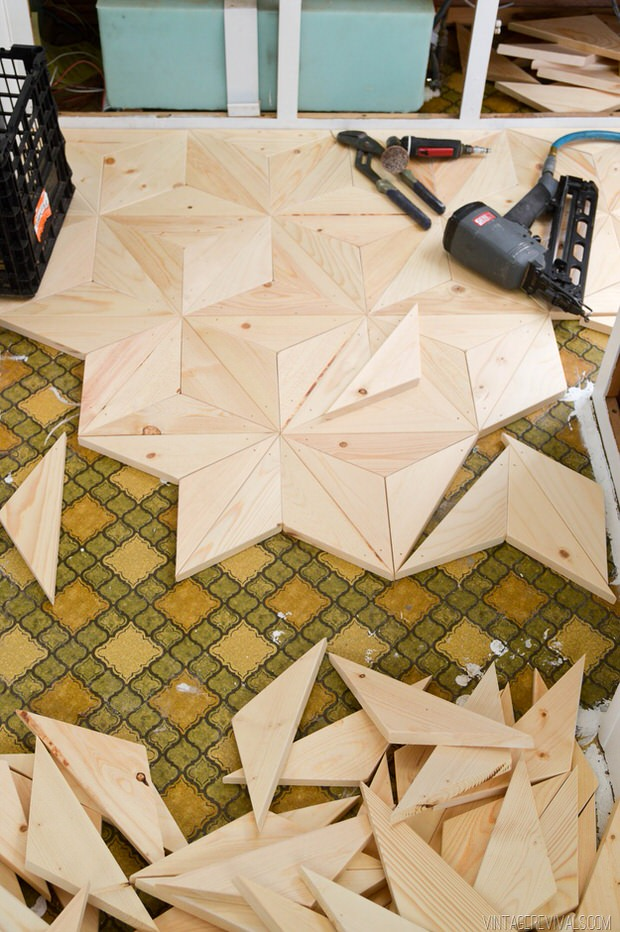 geometric wooden floor