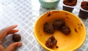 make small cake balls