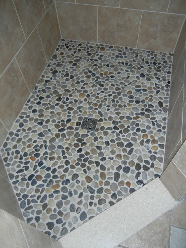 pebble bathroom floor