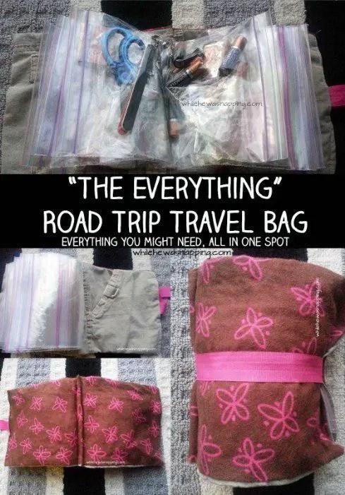 road trip travel bag