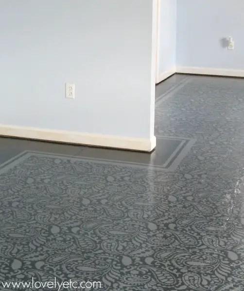 stenciled floor second version