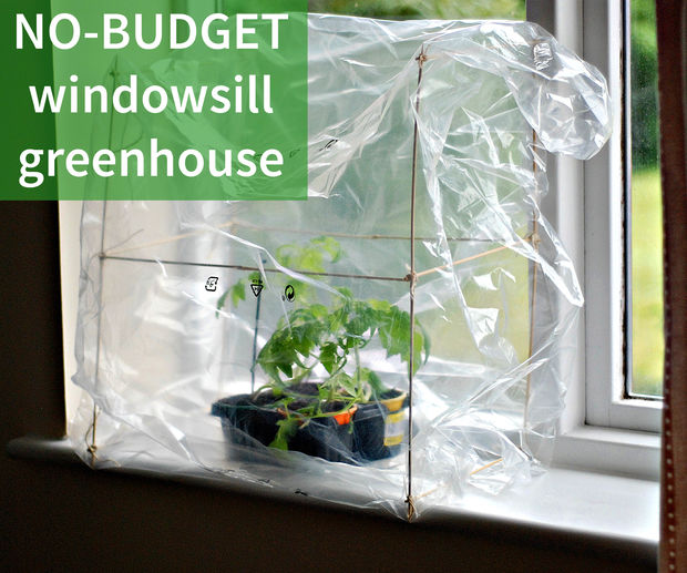 Make Your Own Super Cheap Windowsill Greenhouse