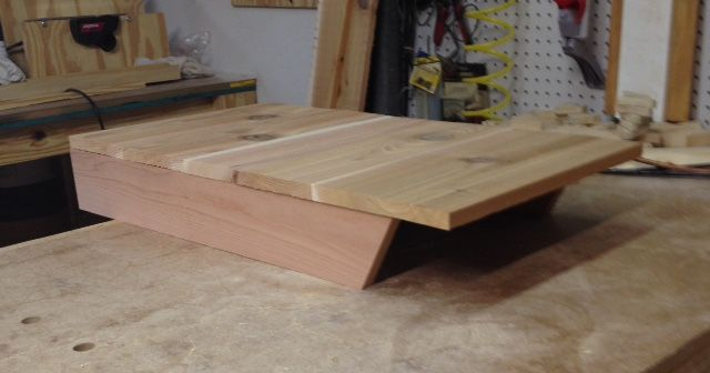 making the back of the bat house