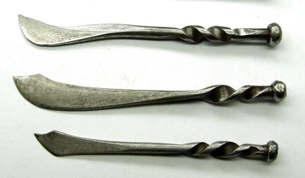 decorative miniature knives