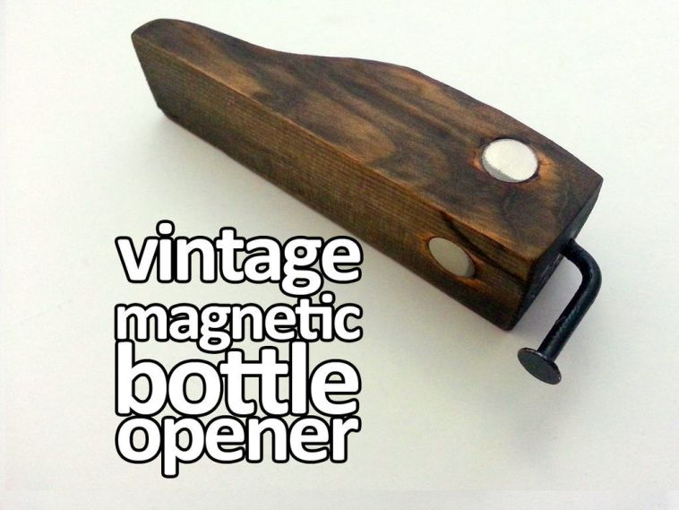 Magnetic Bottle Opener (top image) by mikeasaurus