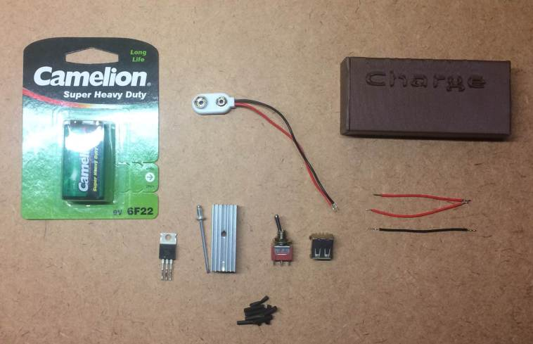 emergency usb charger components required