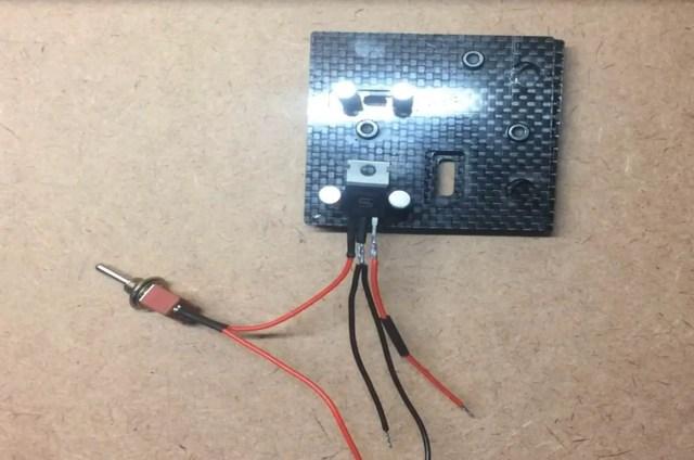 solder USB wires to regulator
