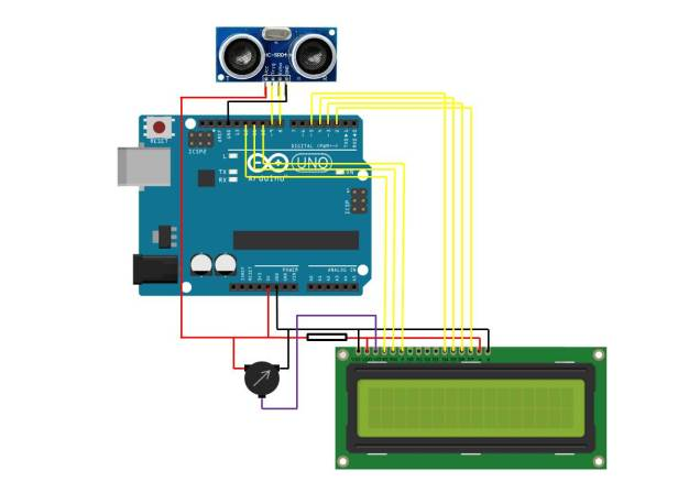Ultrasonic Sensor LCD Panel