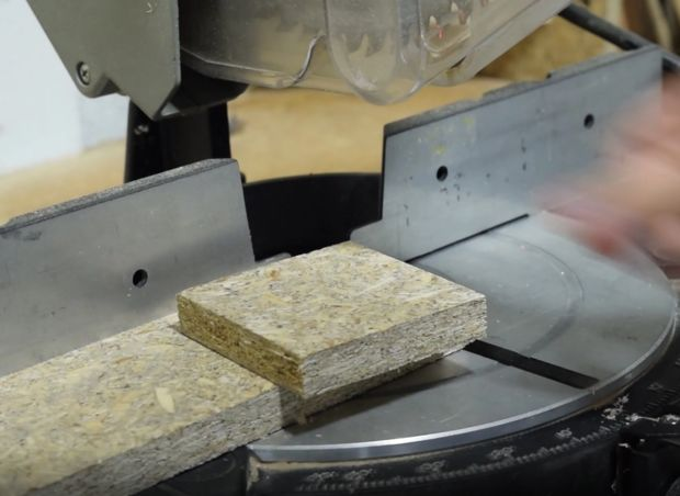 cut a 4 inch square from the wood