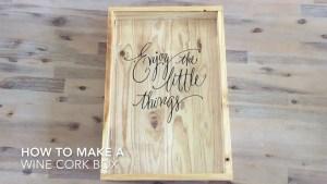 How To Make A Wine Cork Shadow Box