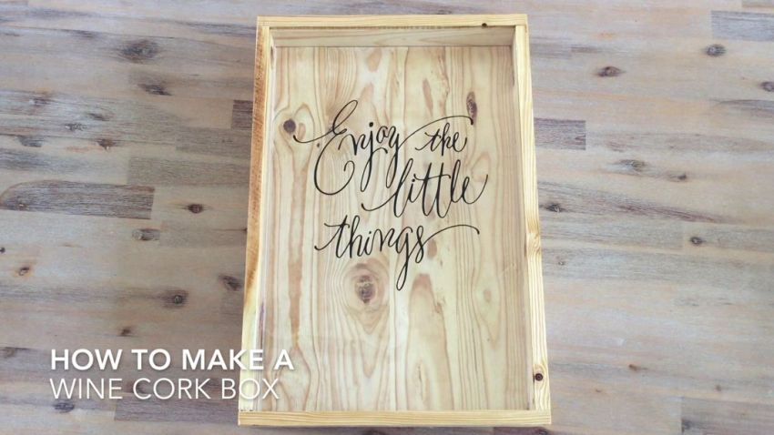How To Make A Wine Cork Shadow Box