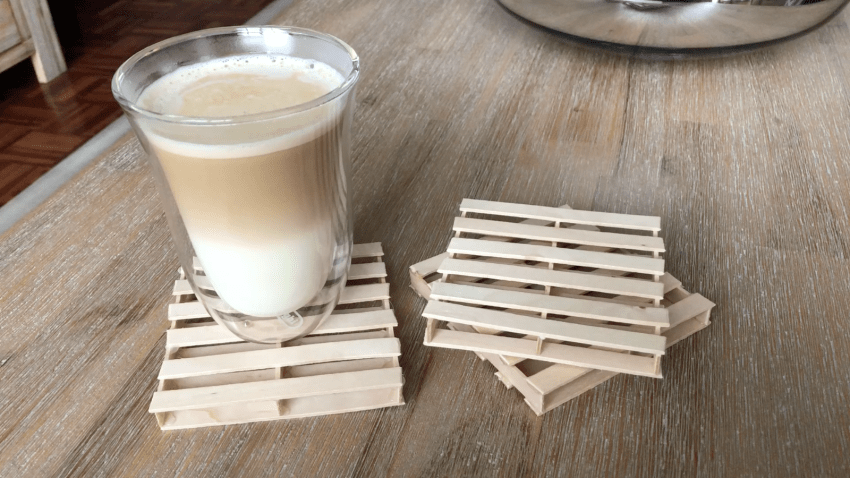 Mini Pallet Coasters, Make Your Own For $0.50