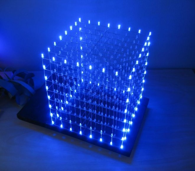 Arduino Controlled 8 x 8 x 8 LED Cube