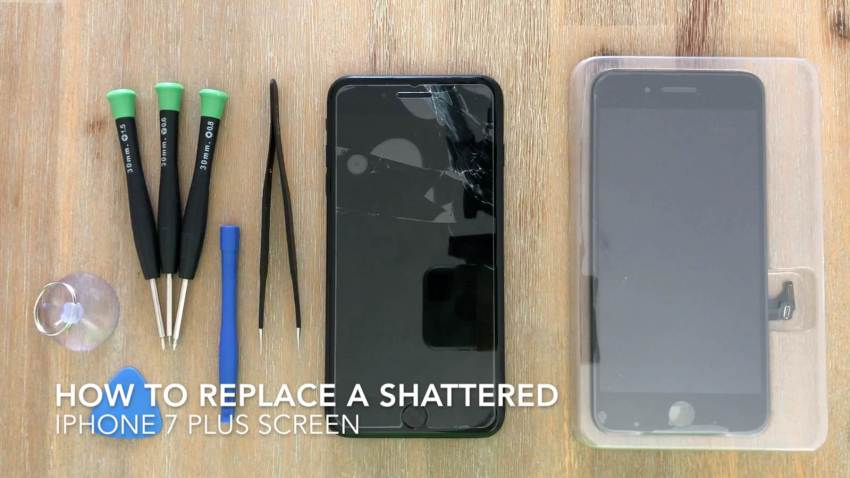 how to replace a shattered or cracked iphone 7 plus screen the diy