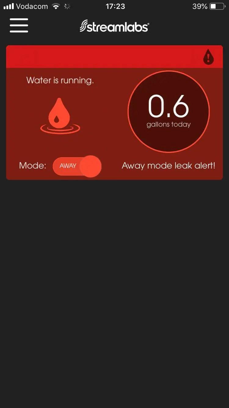 Away Mode Leak Alert