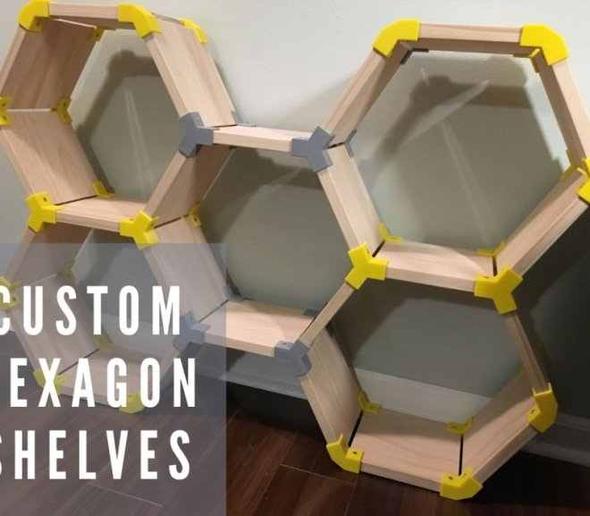Custom Made Hexagon Shelving System Using 3D Printing
