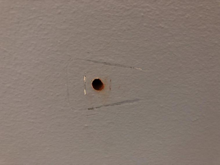 hole in masonry wall