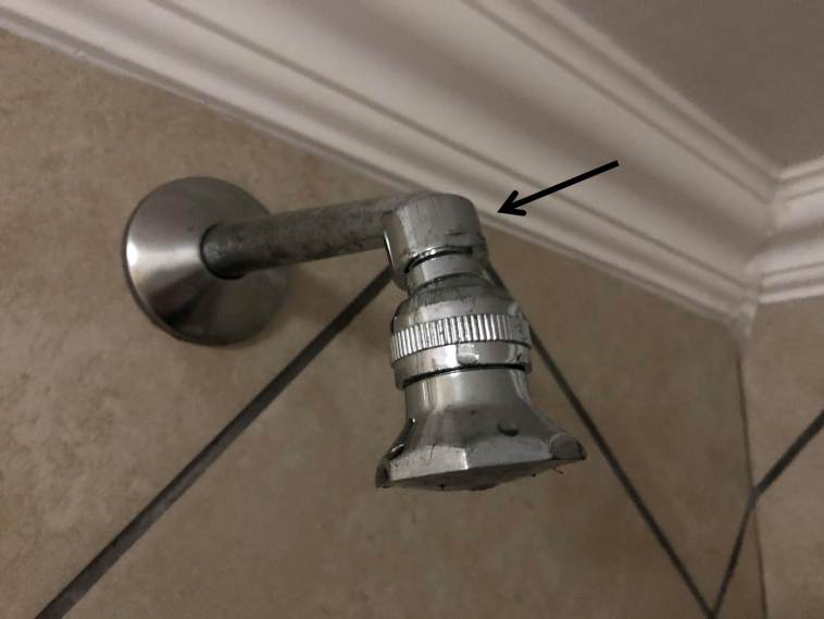 Nut Securing Shower Rose