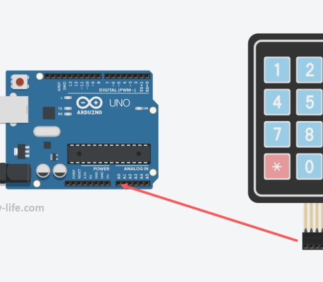 Connect A 4x4 Keypad To One Arduino Input