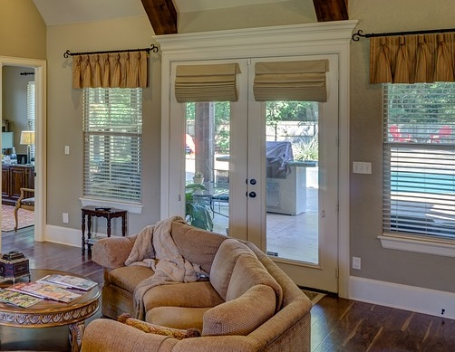 wooden window or door frames