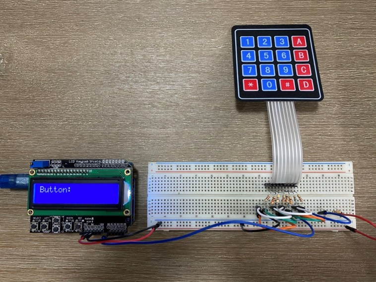 Keypad On One Arduino Input Running