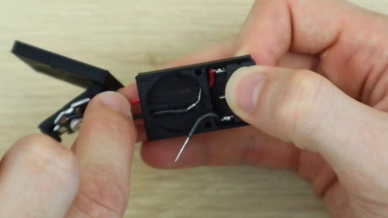 Align Leads In Battery Holder