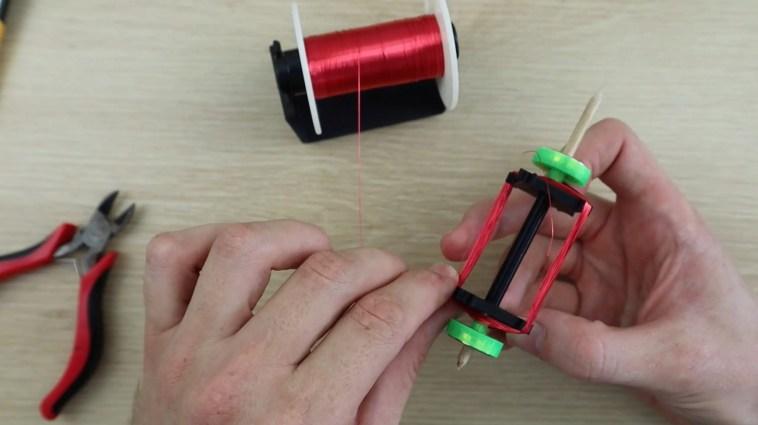making the rotor windings