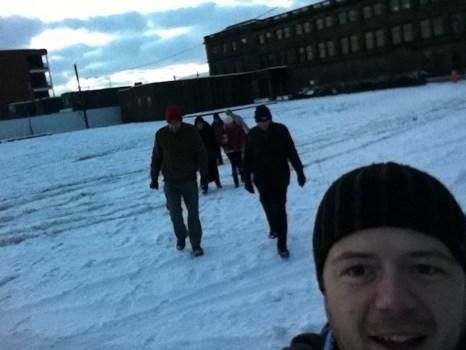 Dock Walking in the snow...