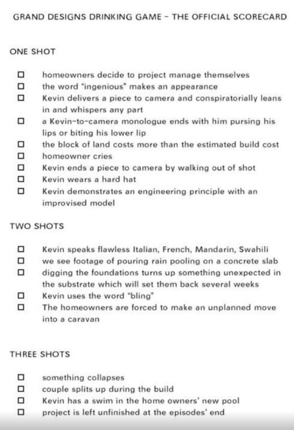 Fgrand Designs Drinking Game
