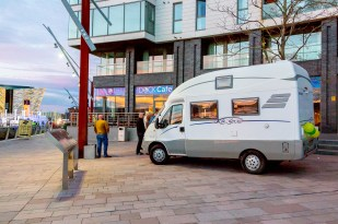 The Camper sits outside The DOCK Cafe