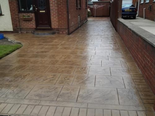 Pattern Imprinted Concrete Driveways