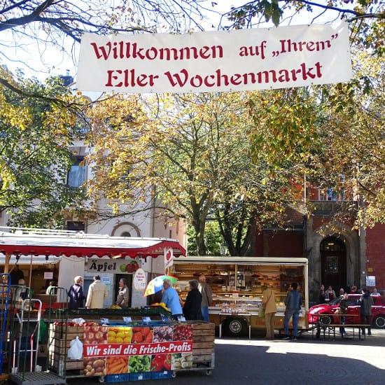 Der Wochenamrkt in Eller mit seinem tollen Angebot
