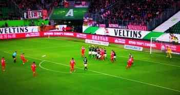 VW-Burg vs F95: Kaan Ayhan schießt das 1:0