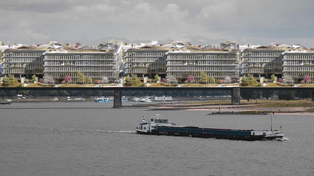 So könnte die Überbauung des Rheins anstelle der Theodor-Heuss-Brücke aussehen