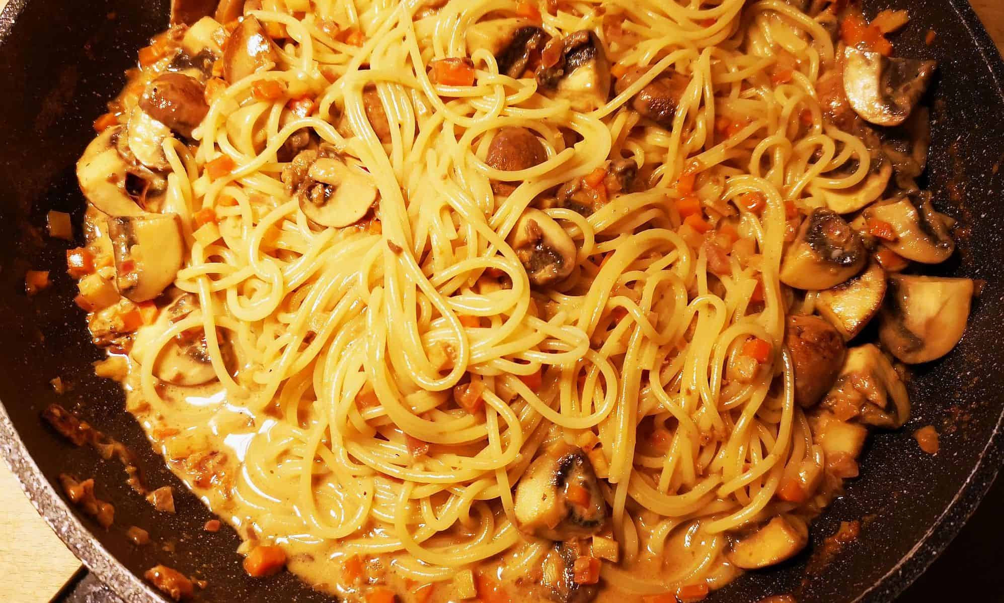 RdW: Spaghetti ai funghi speciale (eigenes Foto)
