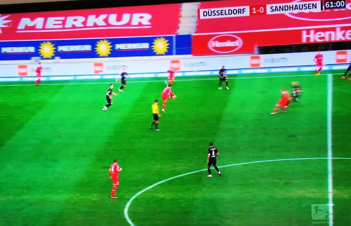 F95 vs Sandhausen: So eine Art Angriff (Screenshot)