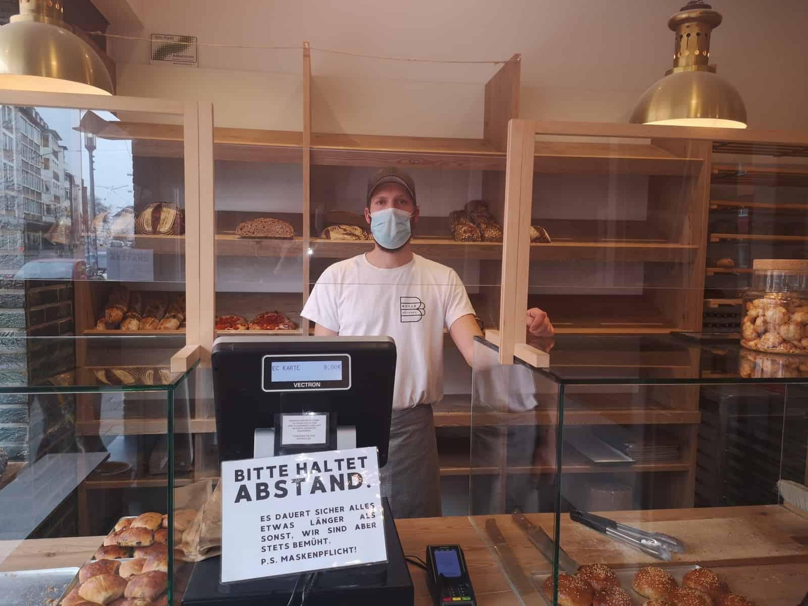 So sieht es aus in der Bulle Bäckerei zu Corona-Zeiten (Foto: M. Diederichs)