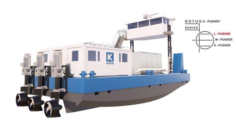 So werden die E-Pusher der Kotug-Flotte aussehen (Foto: Kotug)