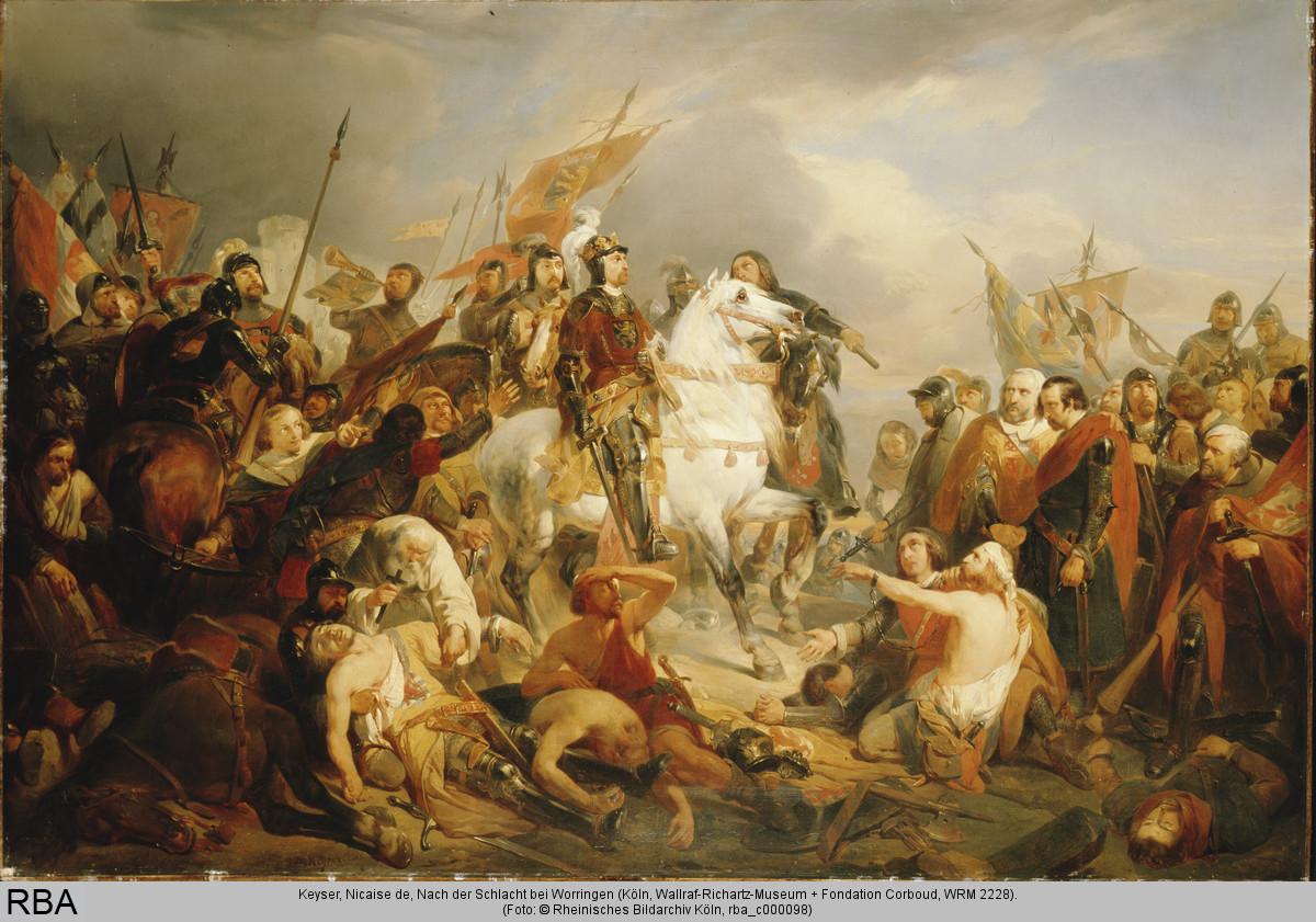 Nicaise de Kayser: Nach der Schlaxcht bei Worringen (1840)